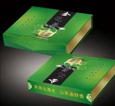 金花葵 茶叶书型盒子 平面展开