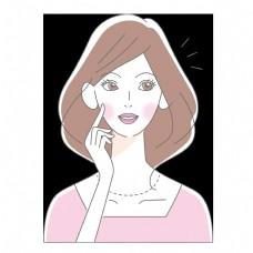 三八女神节粉色系线条手绘女王元素