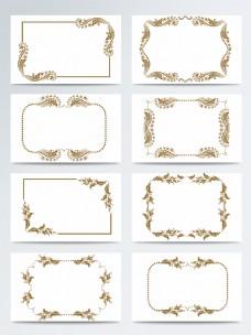 金色欧式边框素材ai矢量元素