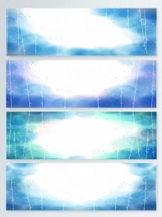 蓝色科技banner背景