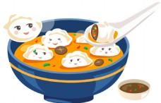 卡通可爱饺子png元素