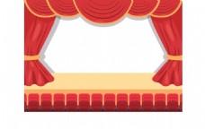 卡通主席台舞台png元素