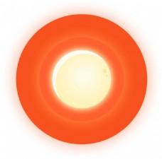 卡通橙色圆圈圆环png元素