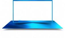 蓝色边框装饰框png元素