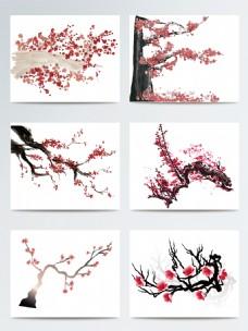 水墨中国风桃花树素材