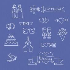 创意简约结婚用品图标