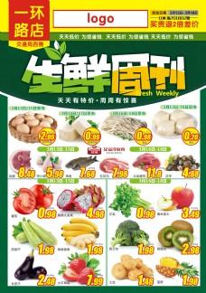 栗园路店生鲜周宣传单