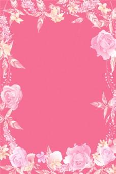 粉色浪漫春天背景