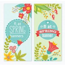 小清新春季卡通花朵促销海报背景设计