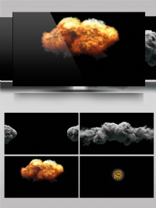 烟雾碰撞爆炸出LOGO会声会影模板