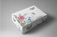 清新水彩繪包裝禮盒