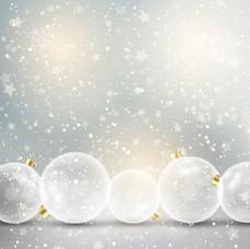 白色圣誕節背景