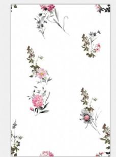 印花 花朵 匹布 面料 小清晰