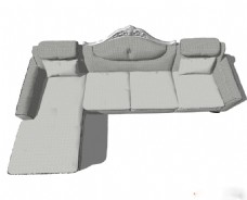 浅色沙发su模型综合效果图