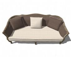 沙发深色客厅效果图