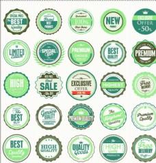 商场促销 绿色产品 标签 标志