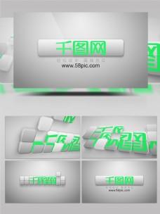 数字模块模仿移动logo演绎AE模板
