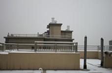 雪景冬天屋顶