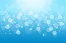 蓝色星光PPT背景图片下载
