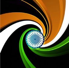三色漩渦印度國旗