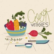 绿色蔬菜插图