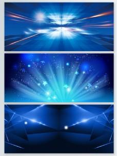 蓝色粒子光效背景banner合集