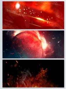 激情红色粒子光效背景