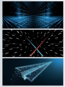 科技风粒子光效背景