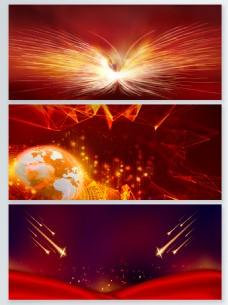 红色激情粒子光效背景合集