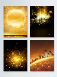 金色粒子光效背景合集