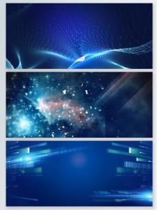 蓝色粒子光效背景素材