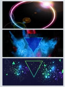 几何图形粒子光效背景