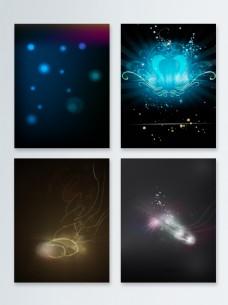 深色粒子光效背景合集