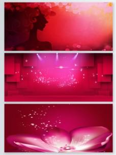 红色精致粒子光效背景