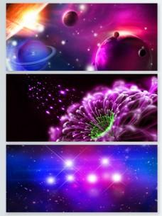 炫彩华丽粒子光效背景