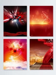 红色粒子光效背景合集