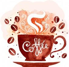 创意时尚咖啡杯插画