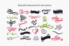 各式装饰品矢量素材