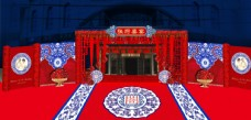 新中式婚礼大门口装饰
