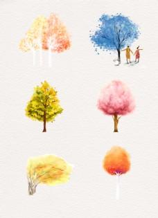 各种颜色树木合集