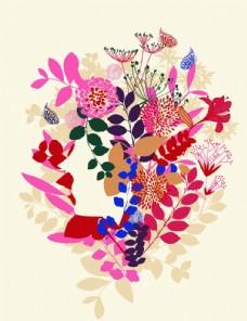 植物花卉 三联画